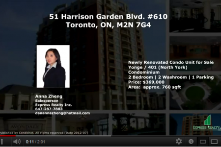 [Virtual Tour] Luxury Renovated Condo 51 Harrison Garden Blvd #610, Toronto